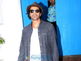 Arjun Rampal snapped at Olive in Bandra