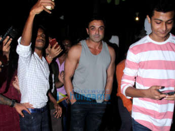 Bobby Deol spotted at Hakim's Aalim salon in Bandra