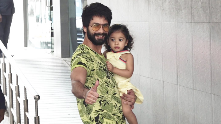 CHECK OUT Shahid Kapoor, daughter Misha reach hospital to meet Mira Rajput, new baby