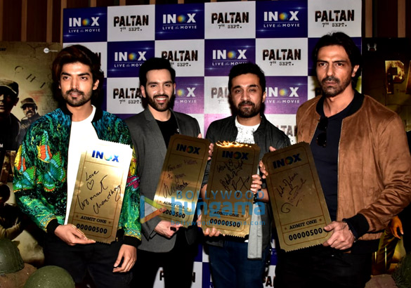 Cast of Paltan snapped during promotions at R City Mall in Ghatkopar