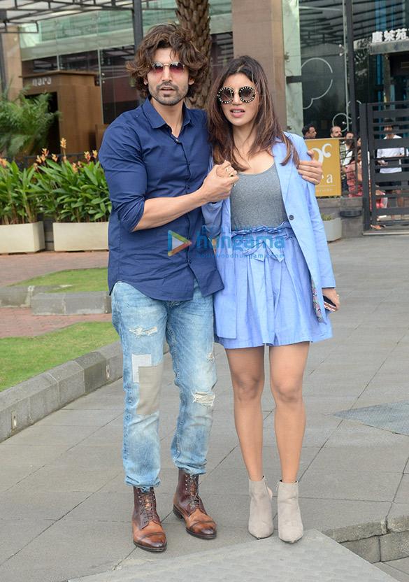 Gurmeet Choudhary and Debina Bonnerjee spotted at Yauatcha