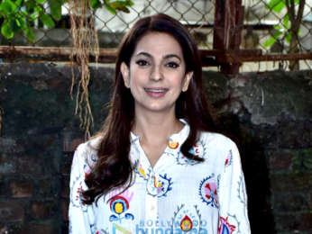 Juhi Chawla spotted after shooting for her upcoming flim at Mehboob Studio