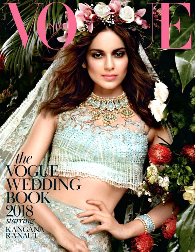 Kangana Ranaut comes alive as a genteel & elegant angel in a mint green lehenga for Vogue, long gone is her bad-ass image!