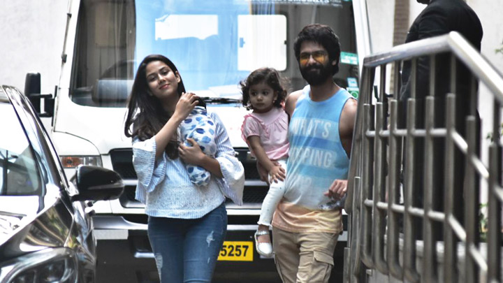 SPOTTED Shahid Kapoor taking her baby Zain Home