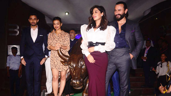 Saif Ali Khan, Radhika Apte, Chitrangda at the trailer launch of Baazaar part 1