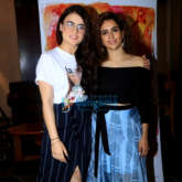 Sanya Malhotra and Radhika Madan snapped during Pataakha interviews at Sun N Sand in Juhu