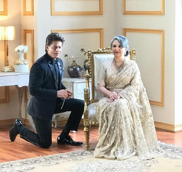 Shah Rukh Khan romantically kneels down for a lady and it is NOT Gauri Khan (see picture)