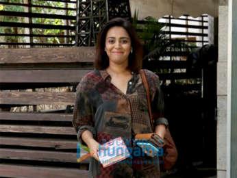 Swara Bhaskar and Dimple Kapadia spotted outside a salon in Juhu