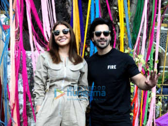 Varun Dhawan and Anushka Sharma snapped at Wilson College to promote Sui Dhaaga - Made In India