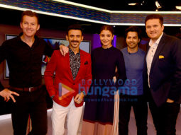 Varun Dhawan and Anushka Sharma visits Star Sports studio to promote the film 'Sui Dhaaga - Made in India' on Nerolac Cricket Live