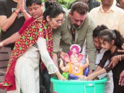 Ganpati Visarjan by Sanjay Dutt & Family