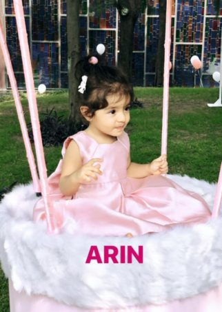 Ghajini actress Asin's daughter Arin turns one; shares first photos of her with husband Rahul Sharma