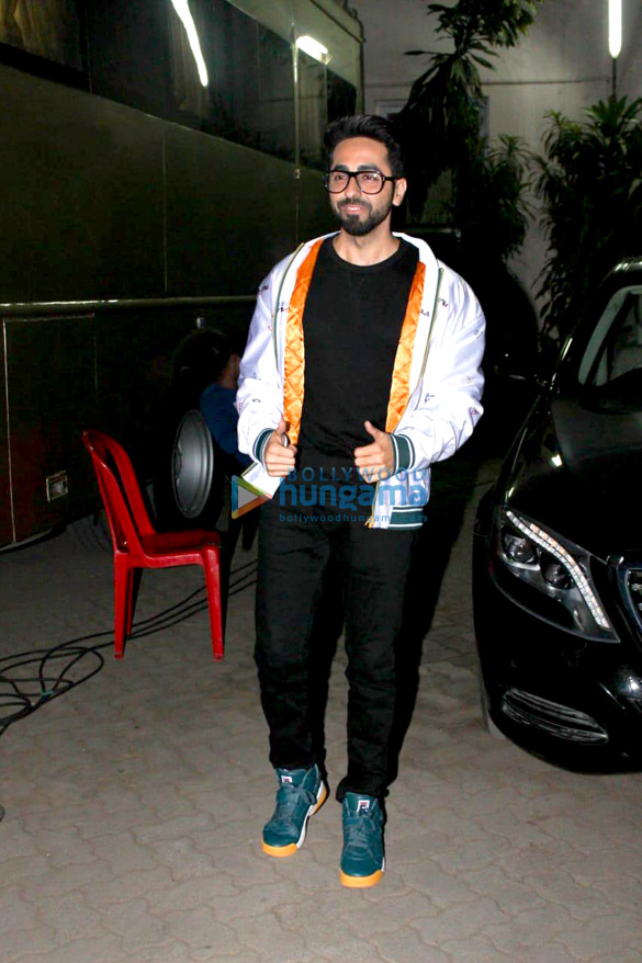Ayushmann Khurrana and Sanya Malhotra promote Badhaai Ho at Mehboob Studios