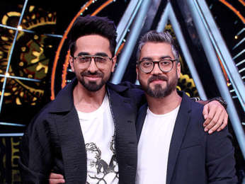 Ayushmann Khurrana snapped on sets of Indian Idol