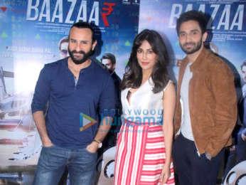 Baazaar cast snapped during promotions at Mehboob Studios