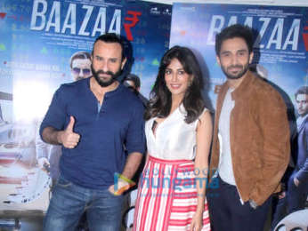 Baazaar cast snapped during promotions at Mehboob Studios