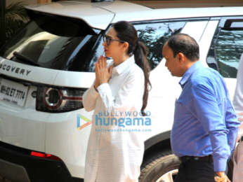 Celebs arrive at Krishna Raj Kapoor's residence to pay their last respects