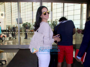 Evelyn Sharma, Aditi Rao Hydari and Rohan Mehra snapped at the airport