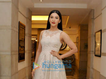 Gauahar Khan snapped during a photoshoot