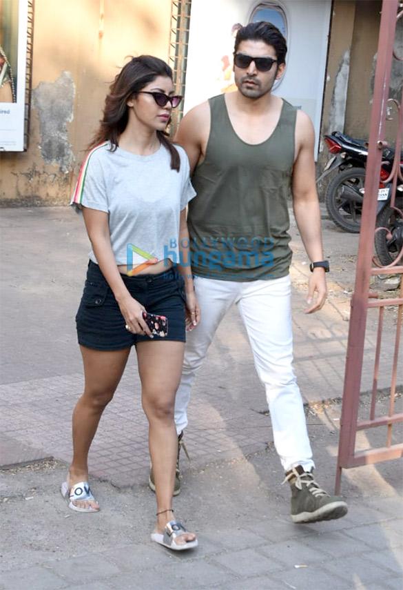 Gurmeet Choudhary and Debina Choudhary spotted in Andheri