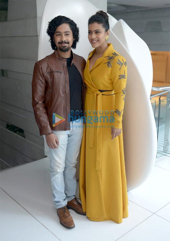 Kajol snapped promoting her film Helicopter Eela