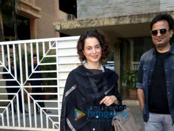 Kangana Ranaut snapped post attending a meeting in Juhu