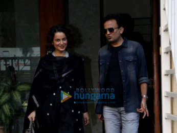 Kangana Ranaut snapped post attending a meeting in Juhu