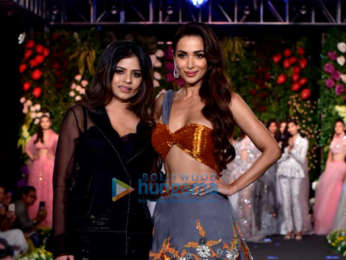 Malaika Arora and Sonal Chauhan walks the ramp at the Wedding Junction fashion show