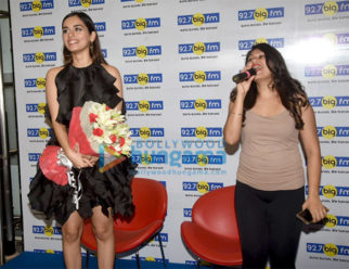 Manushi Chillar snapped at the BIG FM office