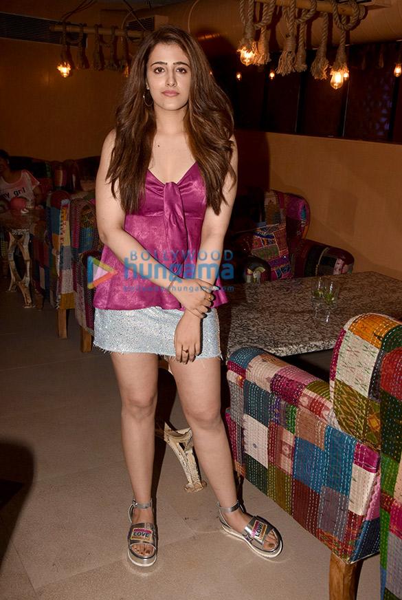 Nupur Sanon snapped at Sheesha Lounge