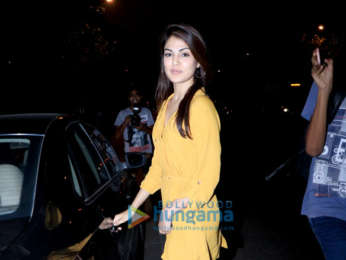 Rhea Chakraborty spotted at the Vishesh Films' office in Khar