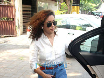Sanya Malhotra snapped at Biguine salon in Juhu