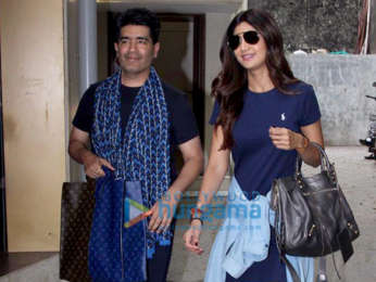 Shilpa Shetty spotted at Manish Malhotra's office
