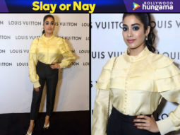 Slay or Nay -Janhvi Kapoor in LV at LV store launch in Delhi (Featured)