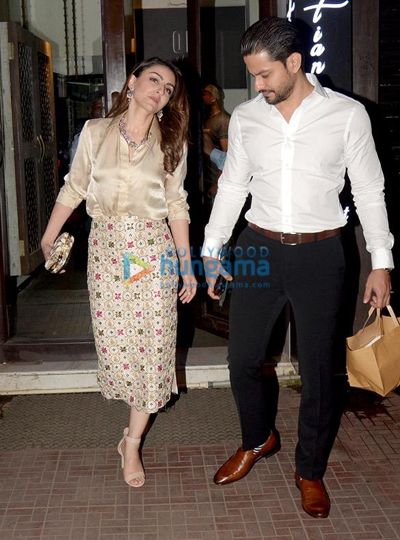 Soha Ali Khan and Kunal Khemu spotted at Bastian