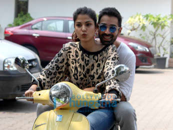 Varun Mitra and Rhea Chakraborty snapped promoting their film Jalebi
