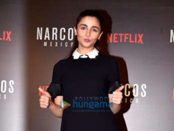 Alia Bhatt, Shaking Batra snapped during a session with Narcos Mexico stars Michael Pena and Diego Luna