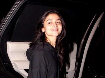 Alia Bhatt snapped at Shankar Mahadevan's dubbing studio