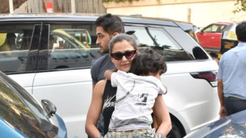 Amrita Arora snapped with her family in Bandra