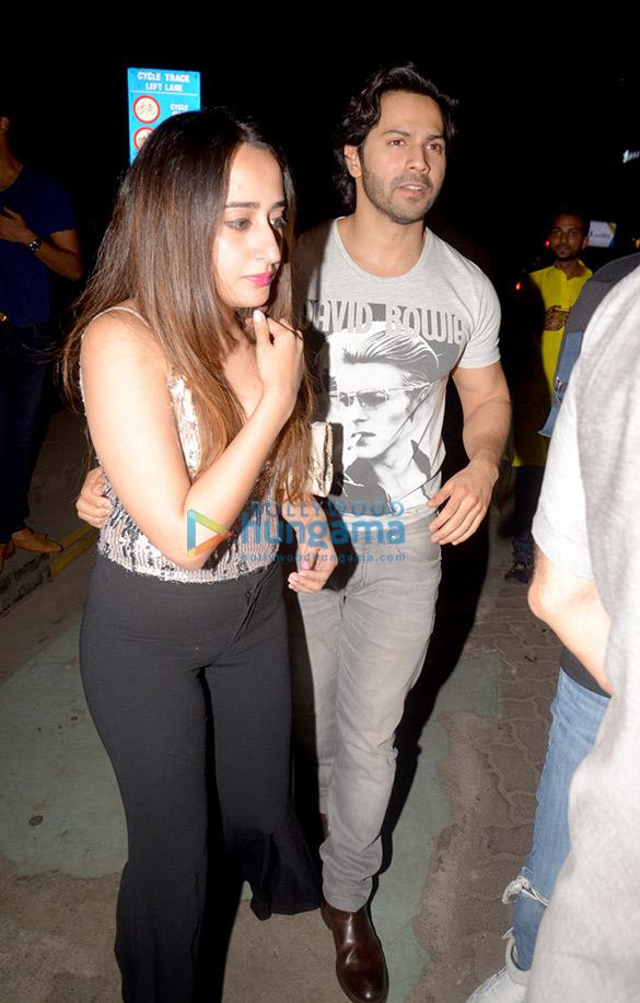 Arjun Kapoor, Malaika Arora and Varun Dhawan spotted after dinner in Bandra