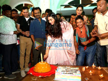 Athiya Shetty celebrating her birthday with the cast & crew of 'Motichoor Chaknachoor' in Bhopal