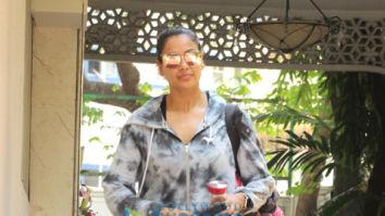 Bipasha Basu snapped outside the gym