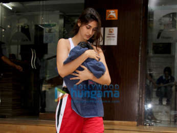 Disha Patani snapped with her pet in Bandra