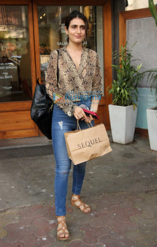 Fatima Sana Shaikh snapped at Sequel in Bandra