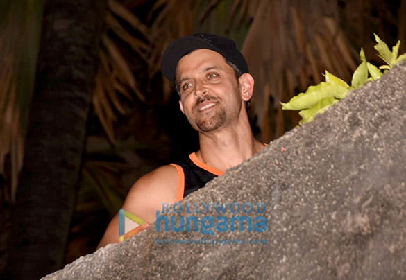 Hrithik Roshan snapped at his residence