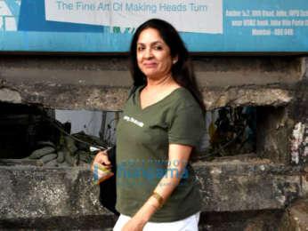 Kriti Sanon and Neena Gupta spotted at Kromakay salon
