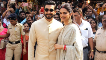Newly Weds Ranveer Singh-Deepika Padukone at Siddhivinayak temple to seek blessings