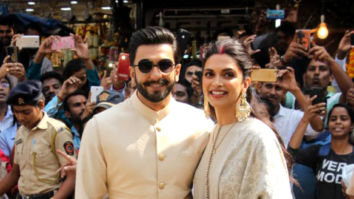 Newlyweds Ranveer Singh and Deepika Padukone snapped at Siddhivinayak temple