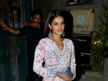 Nidhhi Agerwal spotted at Pali Village Cafe in Bandra
