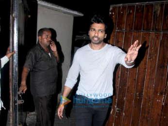 Nikhil Dwivedi and Madhu Mantena snapped at Salman Khan's residence